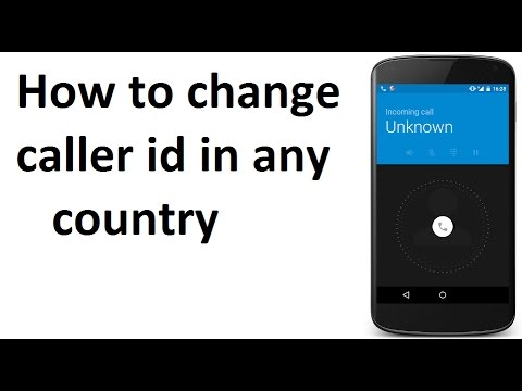 change caller id phone number
