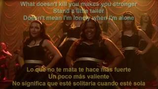 Glee - What Doesn't Kill You (Stronger) / Sub Spanish With Lyrics