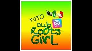 """Picsart Tuto - Créer un fond d'écran en dégradé  """" vert, jaune, rouge """"  #dubrootsgirlcreation"""