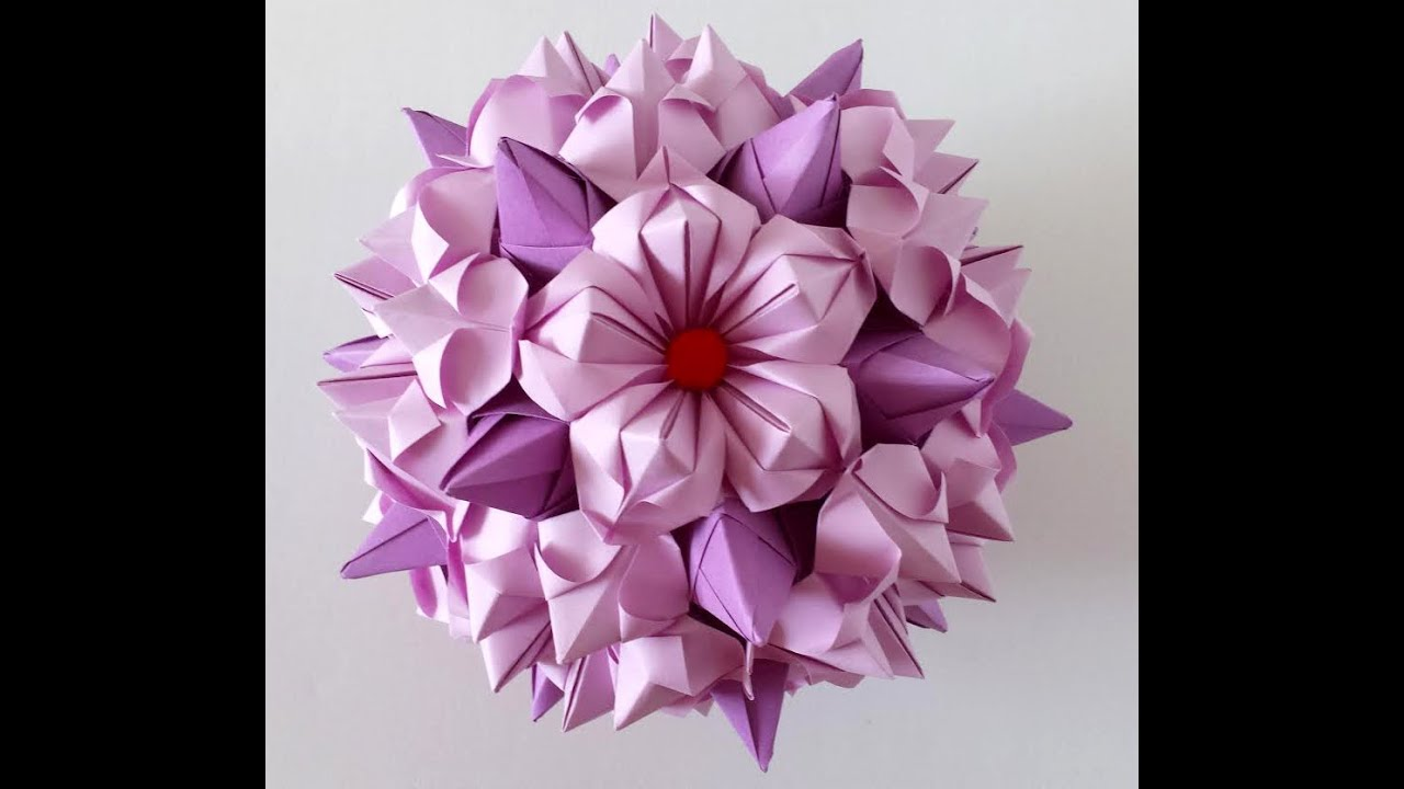 Make a christmas decoration with paper - 5 Petals Origami Flower 1 Youtube