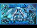 Easy Unlock Ark Genesis Tek Engrams