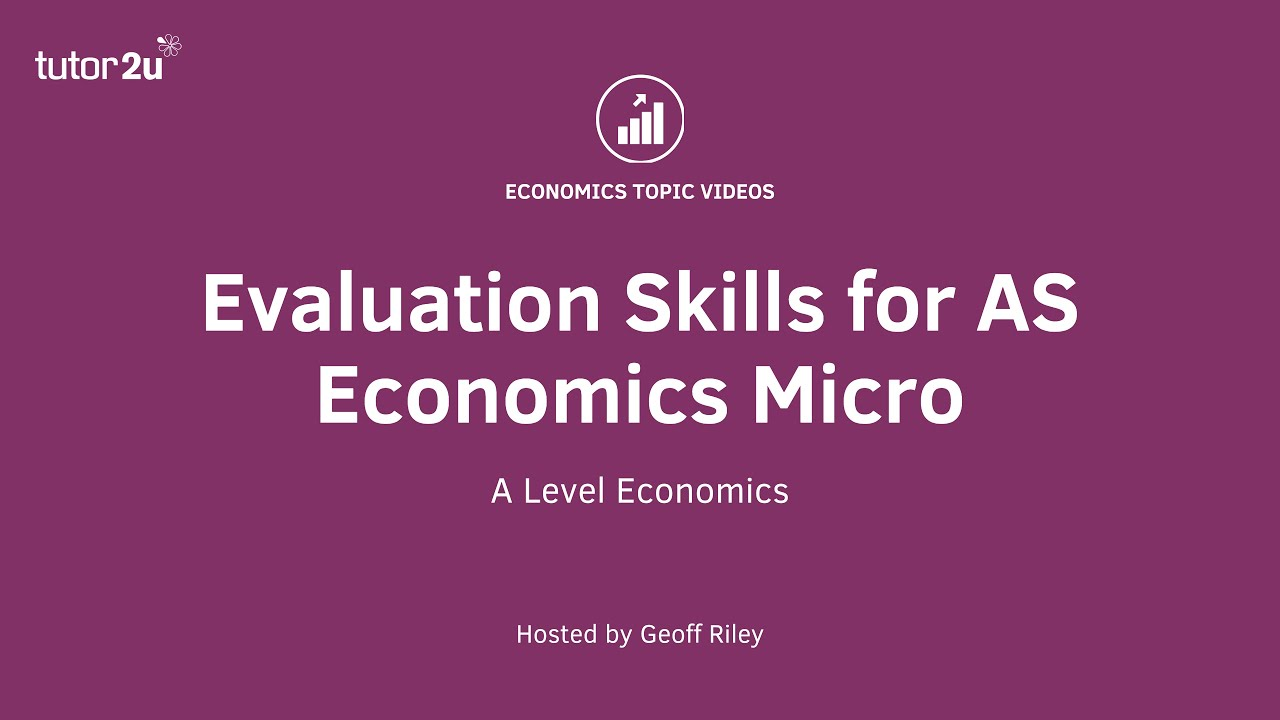 How to write an evaluation in economics