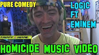 Homicide ! - Logic FT Eminem REACTION!