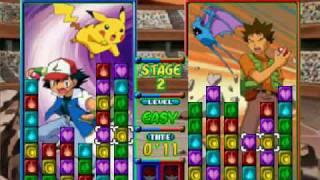 Pokemon Puzzle league gameplay