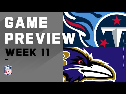 Tennessee Titans vs. Baltimore Ravens   NFL Week 11 Game Preview