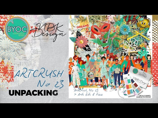 What's inside the artCrush 23 Collection - Unpacking