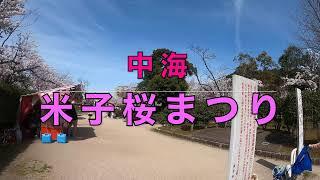 米子 #湊山公園桜まつり #中海.