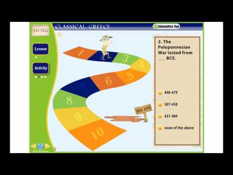 Ancient Civilizations: Greece Interactive Whiteboard Software