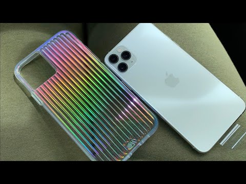 iPhone 11 Pro Max White/Silver & CaseMate Tough Groove Iridescent Unboxing