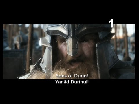 Dwarvish (Khuzdul) in the Battle of Five Armies Movie