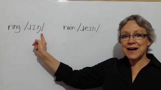 How to Say RING RAIN - American Accent