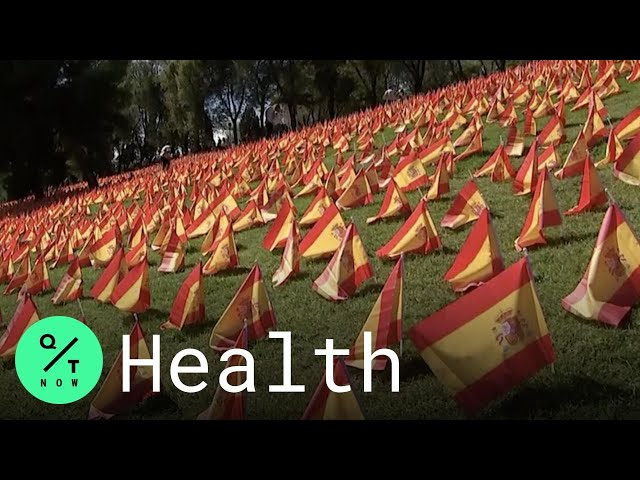 50,000 Flags Erected in Madrid to Pay Tribute to Spain's Covid-19 Victims