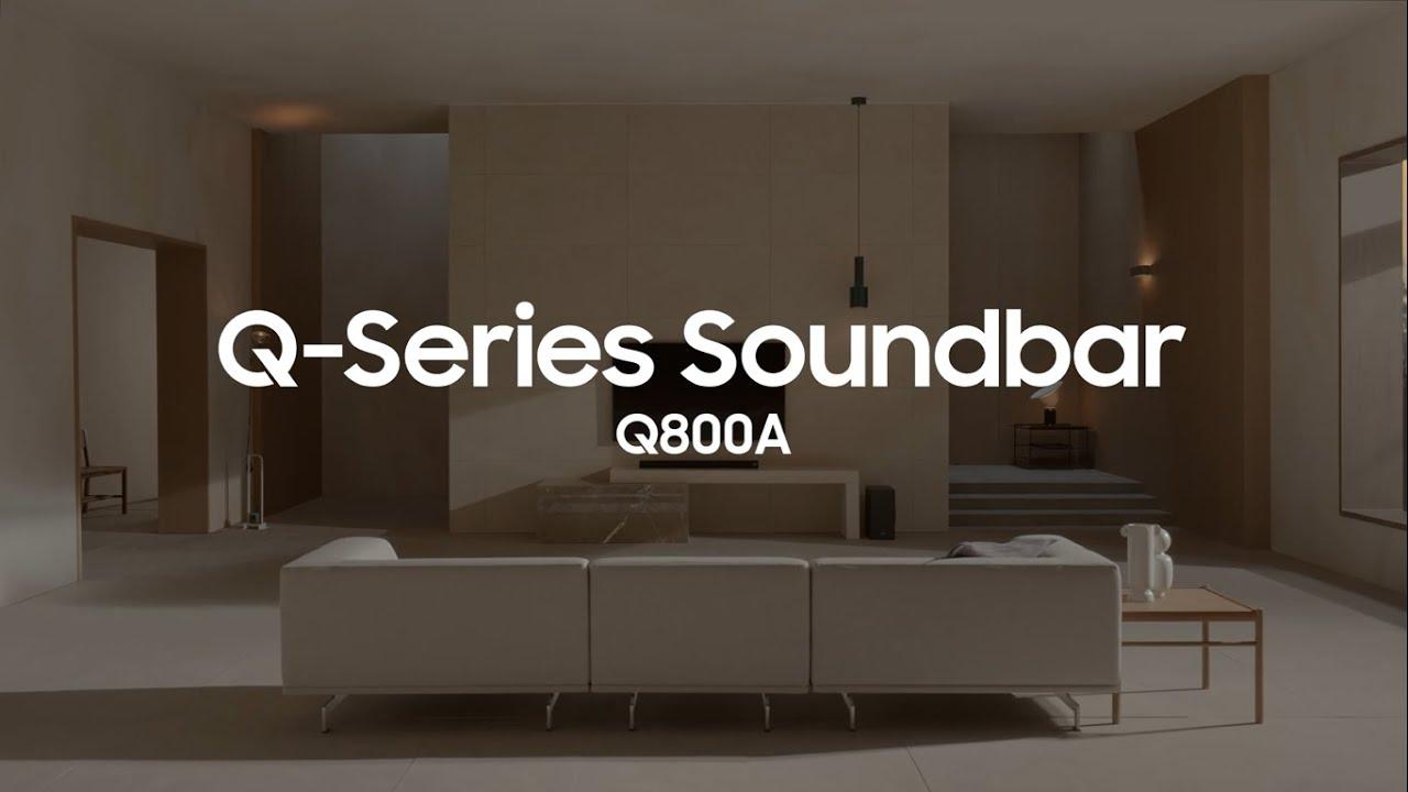 Experience captivating entertainment with the Q800A Soundbar   Samsung