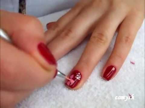 flower design short nails