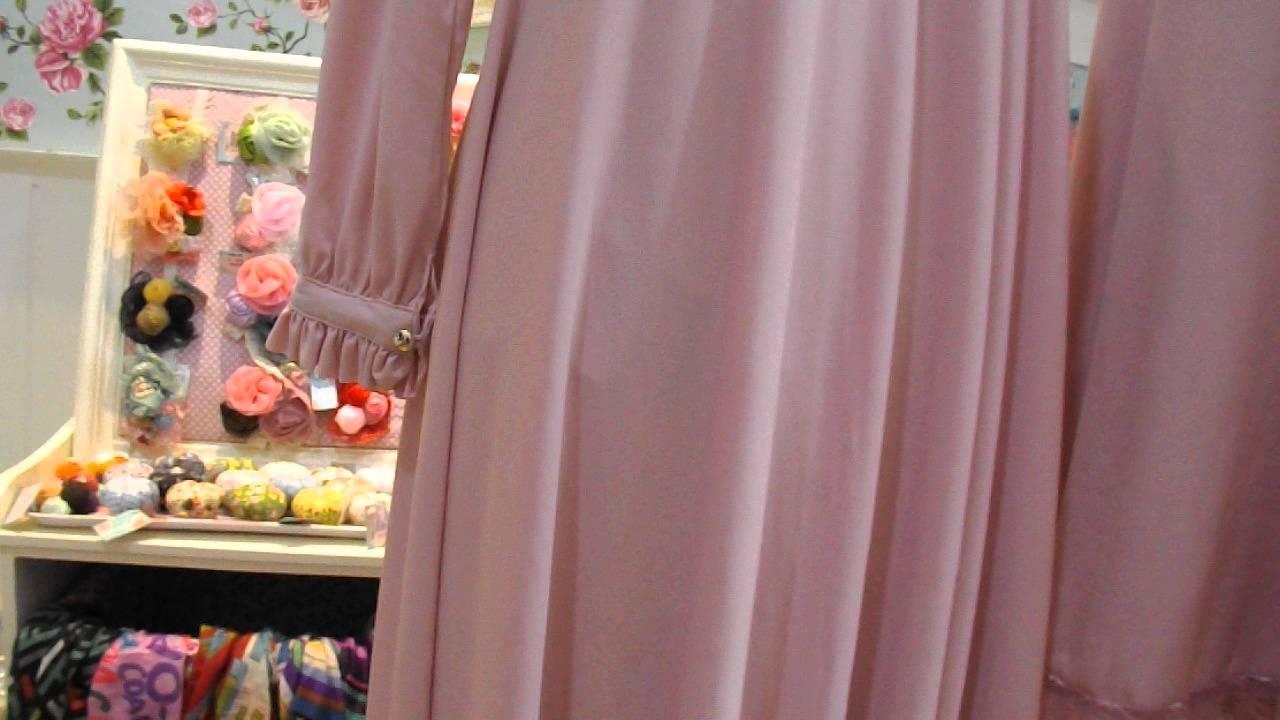 Gamis Syari Warna Pink Youtube