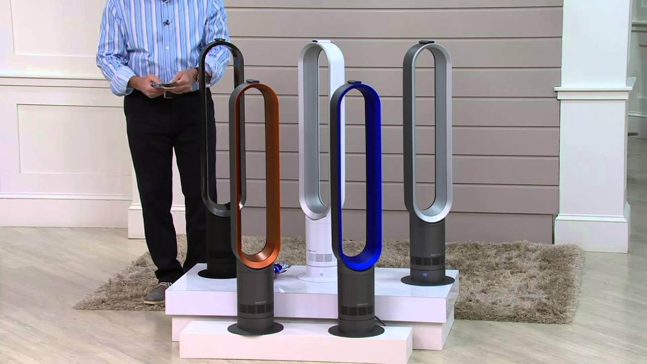 dyson am07 air multiplier bladeless oscillating fan on qvc. Black Bedroom Furniture Sets. Home Design Ideas