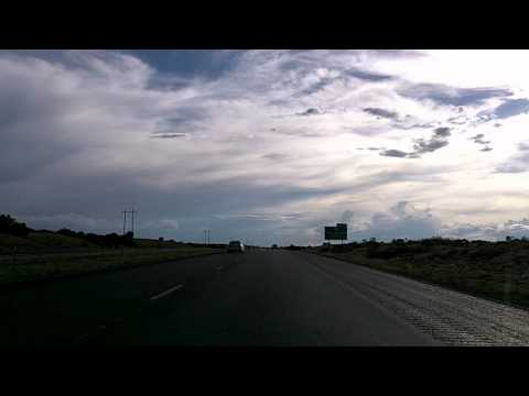 Santa Fe to Albuquerque on Interstate 25, New Mexico Time Lapse Drive