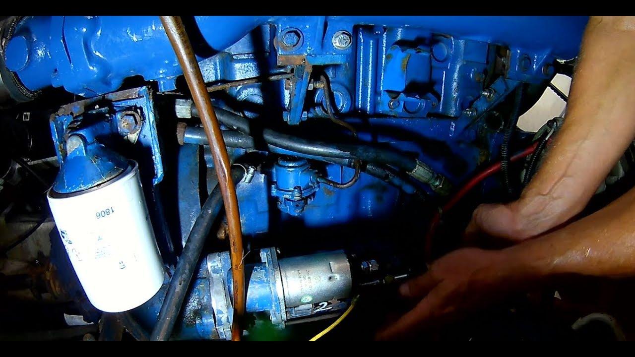 perkins 4 236 marine diesel engine starter removal and reinstallation [ 1280 x 720 Pixel ]