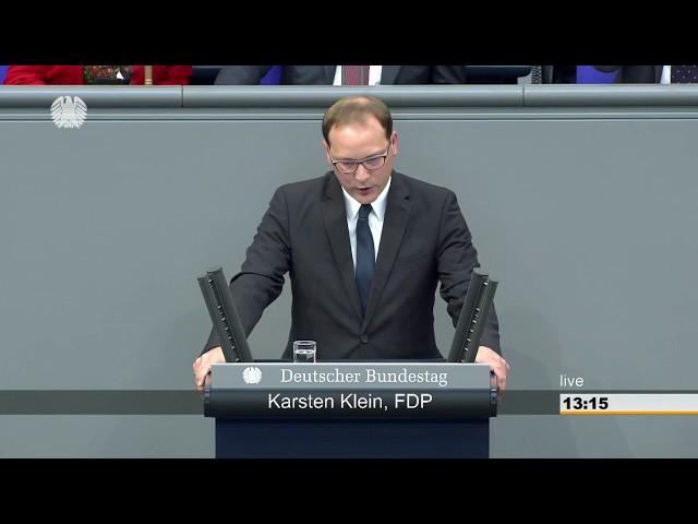 Karsten Klein, FDP: Bundestagsrede zum Haushalt des Wirtschaftsministerium 13.09.2018