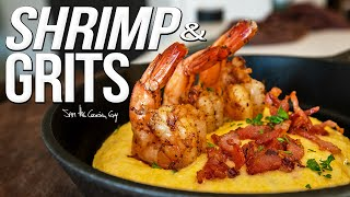 Shrimp & (CHEESY) Grits! Quick & Easy Recipe | SAM THE COOKING GUY 4K