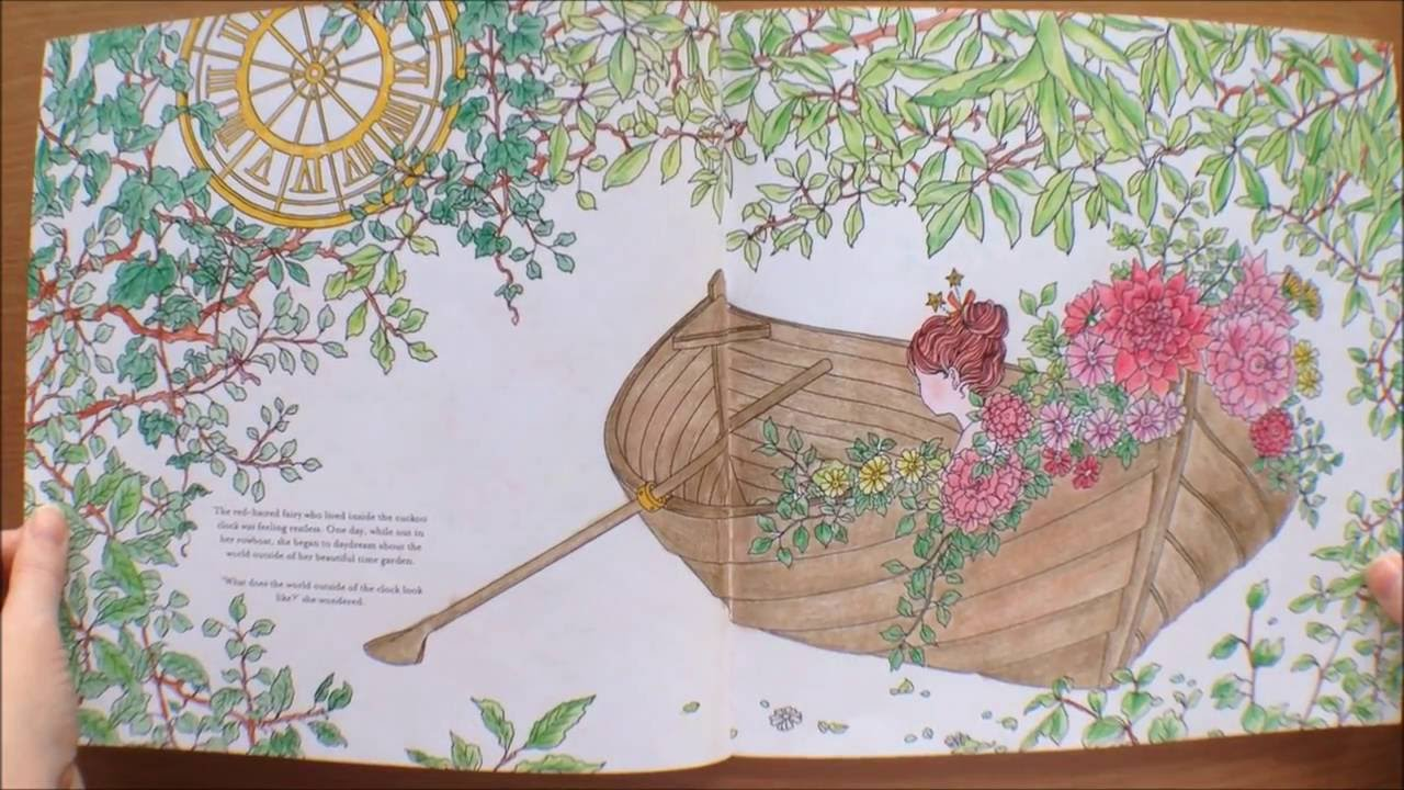 The Time Chamber by Daria Song Colouring Book flipthrough - YouTube