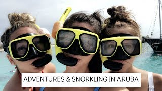 ARUBA VLOG: spending the day on a catamaran in Aruba!