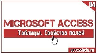 Основні властивості полів таблиці Microsoft Access