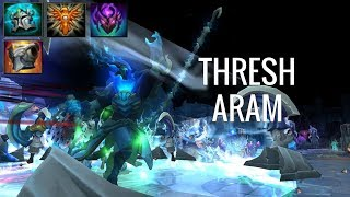 TANK, PEEL, REPEAT! Thresh ARAM - League of Legends