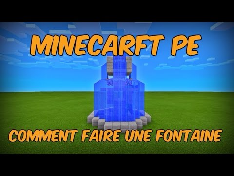 Minecraft pocket edition comment faire une fontaine  YouTube