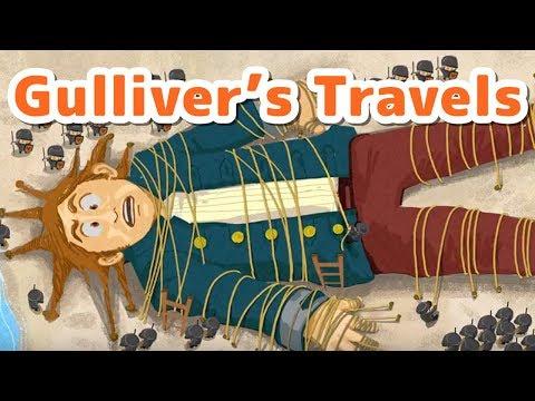 【絵本読み聞かせ英語朗読:字幕付き】ガリバーの冒険/Gulliver's Travels【Japanese Fairy Tales in English】