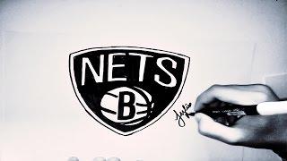 [NBA] HOW TO DRAW BROOKLYN NETS LOGO