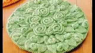 Самые красивые коврики крючком
