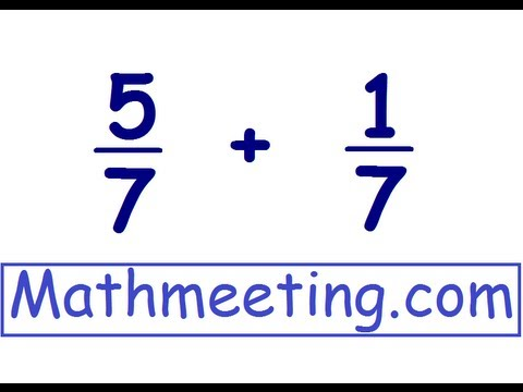 Adding Fractions - common denominators - YouTube