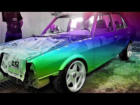 BEKLENEN VİDEO! Turbo Tofaş Şerbet Rengine Boyandı