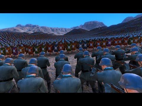 5.000 GERMAN SOLDIERS vs 60.000 ROMANS - Ultimate Epic Battle Simulator