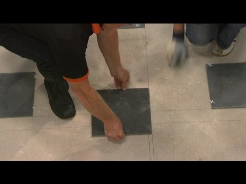 How To Lay Floor Tiles By Yourself Youtube