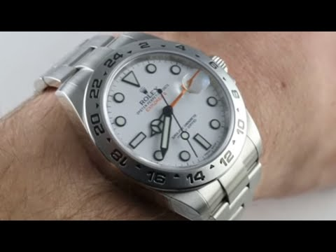"""Pre-Owned Rolex Explorer II 216570 """"Polar"""" Luxury Watch Review"""