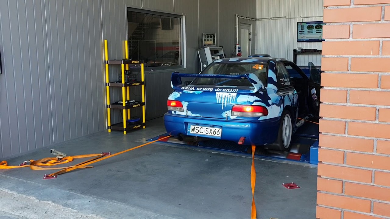 Subaru Impreza on dyno  New sequential gearbox XShift and mapping on MoTeC