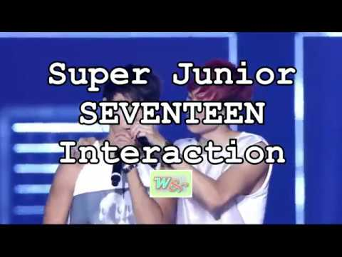 SUPER JUNIOR and SEVENTEEN Interaction