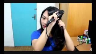 How To Use HOT ROLL BRUSH MIDEAS (sisir ionic untuk blowdry rambut))