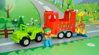 Мультики для детей с игрушками -Поход в цирк.