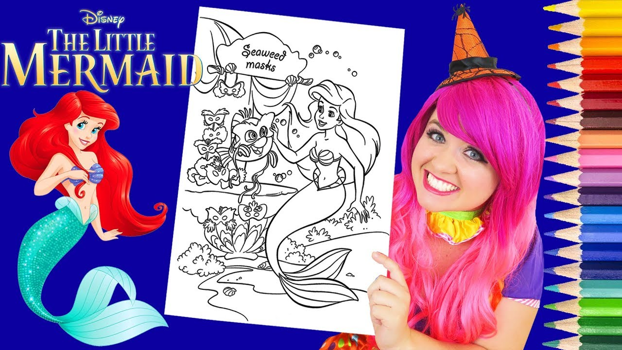 Coloring Ariel Halloween Little Mermaid Coloring Page