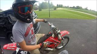 First Ride on the New Honda Cr125!!!