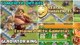 Season Challenge Clash of Clans 2019 | New Gladiator King | Barbarian King New Skin | COC UPDATE