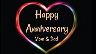 Happy Anniversary Mom & Dad wishes - Happy Anniversary Status