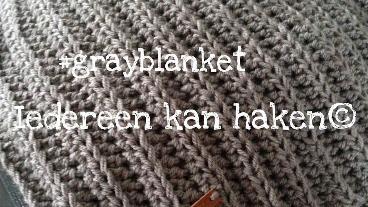 Iedereen Kan Haken Woondeken In Ribbelsteek Grayblanket Different