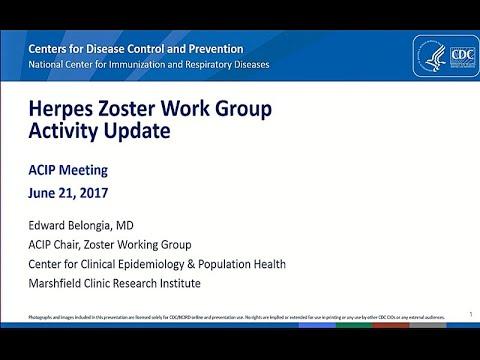 June 2017 ACIP Meeting Herpes Zoster Vaccine