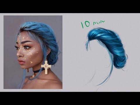 Самый простой способ рисования волос • SPEED-ART (#Photoshop)