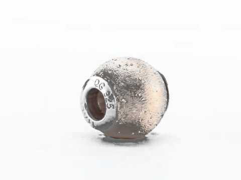 Sterling Silver Reflection Rose Gold-Plated Laser-Cut Bead