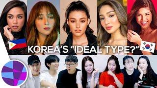 "Koreans React to Filipina Celebrities: Who is Korea's ""Ideal Type?"" | EL's Planet"